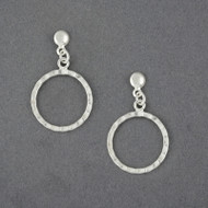 Sterling Silver Hammered Circle on Post Earring
