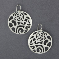 Sterling Silver Floral Cutout Earring