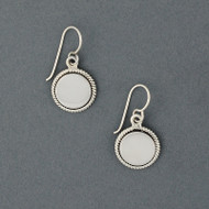 Sterling Silver Circle with Border Earring