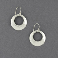 Sterling Silver Hammered Open Circle Earring