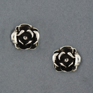 Sterling Silver Antique Rose Stud