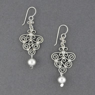 Sterling Silver Spirals and Dots Earrings