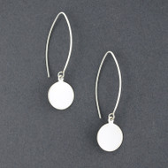 Sterling Silver Circle On Wire Earring