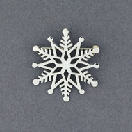 2019 Limited Edition Sterling Silver Snowflake Pin / Pendant