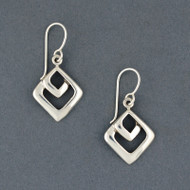 Sterling Silver Small Double Diamond Earring