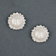 Sterling Silver Sunflower Post Earrings
