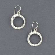 Sterling Silver Textured Open Circle Dangles