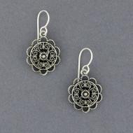Sterling Silver Mandala Earring