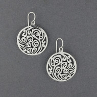 Sterling Silver Filigree in Circle Earrings