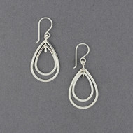 Sterling Silver Small Floating Teardrop Earrings
