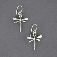 Sterling Silver Detailed Dragonfly Earrings