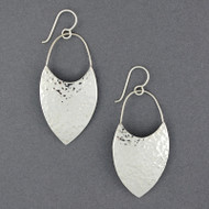 Sterling Silver Bold Shield Dangles