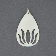 Sterling Silver Cutout Lotus Pendant
