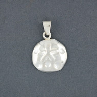 Sterling Silver Extra Small Sand Dollar Pendant