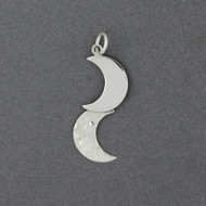 Sterling Silver Double Moon Pendant