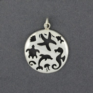 Sterling Silver Sealife Cutout Pendant