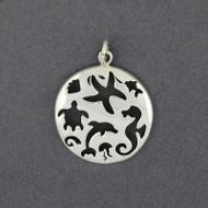 Sterling Silver Sealife Cutout Pendant