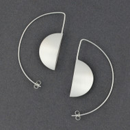 Large Half Moon Hoop Earring