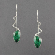 Wavy Chrysocolla Earrings