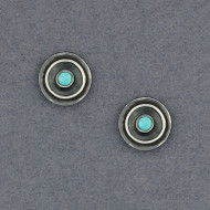 Ethnic Stud Earrings with Turquoise