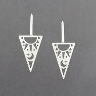 Triangle Sun & Moon Earrings