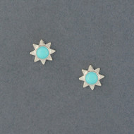 Sun Stud Earring with Turquoise