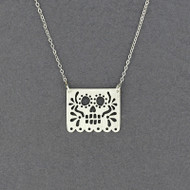 Small Papel Skull Necklace