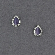 Wampum Teardrop Post Earring