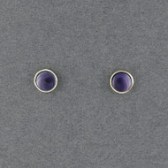 Wampum Round Bezel Post Earring