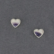 Wampum Heart Post Earring