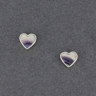 Wampum Heart Post Earring