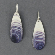Wampum Natural Teardrop Earring