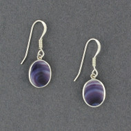 Wampum Oval Dangle Earring