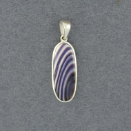 Wampum Long Oval Pendant