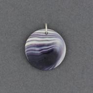 Wampum Round Disc Pendant