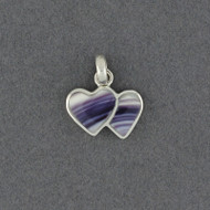 Wampum Two Hearts Pendant