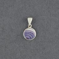 Wampum Small Round Bezel Pendant