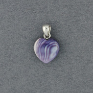 Wampum Natural Heart Pendant