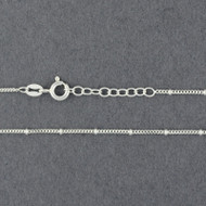 Sterling Silver Curb Chain with Beads