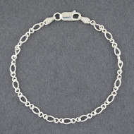 Sterling Silver Figure Eight Bracelet