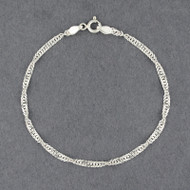 Sterling Silver Singapore Bracelet