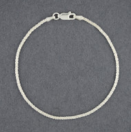 Sterling Silver Criss Cross Bracelet