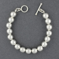 Sterling Silver 10mm Beaded Bracelet