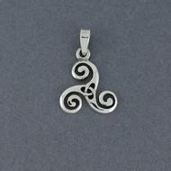 Sterling Silver Triskele Pendant