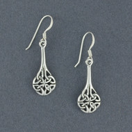Sterling Silver Celtic Shield Knot Earrings