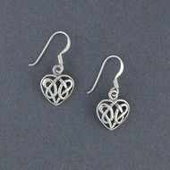 Sterling Silver Celtic Heart Earrings