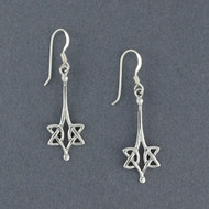 Sterling Silver Long Celtic Knot Earrings