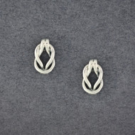 Sterling Silver Love Knot Post Earring