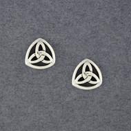Sterling Silver Trinity Knot Post Earrings