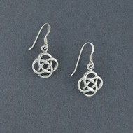 Sterling Silver Infinity Knot Earrings